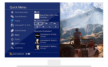 Playstation menu